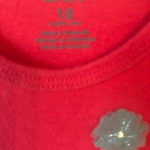 Carter's Shirts & Tops - Pink Long Sleeve Silver Amazing Tee Butterflies